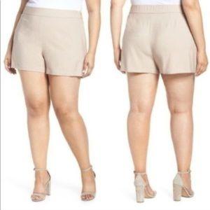 NWT PLUS SIZE 4X Leith Tan High Waist Shorts pants
